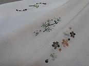 つくし刺繍半衿、すみれ刺繍半衿、桜刺繍半衿