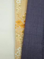 梅刺繍半衿