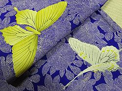 八重桜と蝶々の小紋