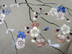 枝垂桜に御籤名古屋帯