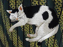 眠りネコちゃんの付下