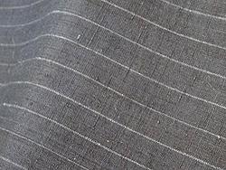 紺色縞紬袷着物