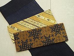 ジャワ更紗(バティック)の半巾帯