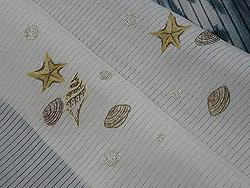 貝刺繍絽半衿