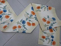 アザミの花本袋帯