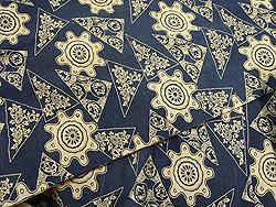 藍型染め綿単衣