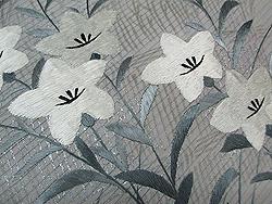 萩に桔梗刺繍絽名古屋帯