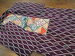 紫紺染立涌絞り羽織