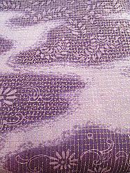 紫雲取りぼかしに刺繍お散歩着
