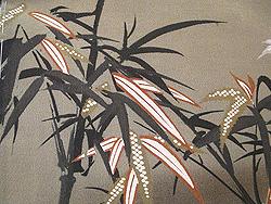 竹に扇面お散歩着