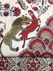 動物柄インド更紗帯