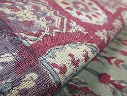 緑に丸紋のインド更紗名古屋帯