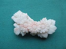 珊瑚小菊の帯留