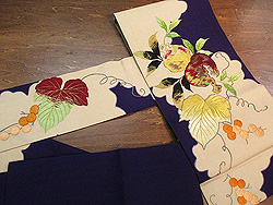 ザクロと葡萄の刺繍名古屋帯