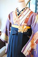 レトロな薔薇×矢羽卒業式袴