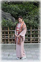 江戸小紋に刺繍帯の装い