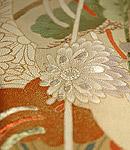 檜扇に鳳凰の図縮緬振袖