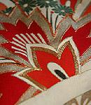 アールデコ風抽象花紋様振袖
