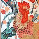 鶏の図振袖