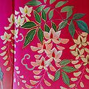 四季の花丸紋刺繍錦紗縮緬振袖