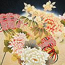 四季の花扇文様中振袖