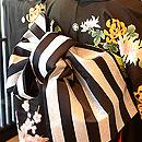 乱菊の図友禅染黒振袖