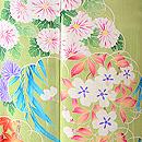 桜に菊紅葉若草色振袖