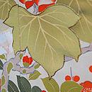 桐に四季の花文様雲取黒振袖