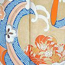 桜に藤波の図錦紗縮緬振袖