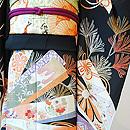 四季の花々短冊文様刺繍振袖