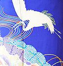 丹頂鶴に檜扇疋田の図振袖