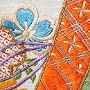 桜に御簾文様刺繍綸子振袖