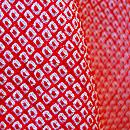 総絞り正絹赤地振袖