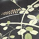 萩にすすき文様ぼかし地小紋単衣