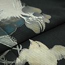 雄鶏にひよこ花籠文様絽縮緬黒留袖