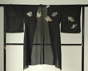 熱帯魚の図夏羽織