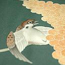 粟の穂に雀染め羽織 背中の雀