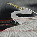霞に鷺の図単衣訪問着 質感・風合