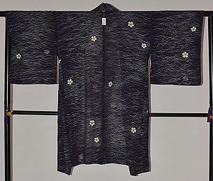 秋草に桔梗文様単衣羽織