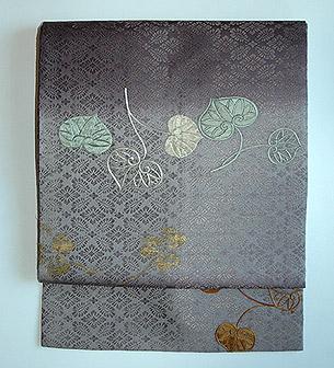 綾紋織葵の図名古屋帯