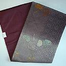 綾紋織葵の図名古屋帯 帯裏