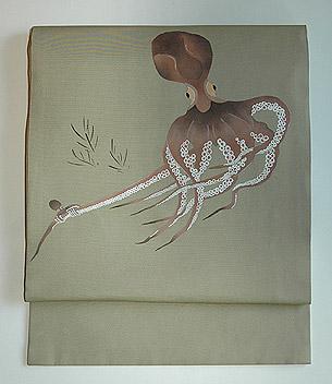 蛸の図名古屋帯