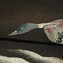 月に雁の図綴れ袋帯 質感・風合