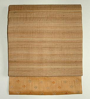 タッサーシルク刺繍名古屋帯