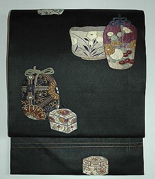茶道具刺繍名古屋帯