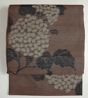 紫陽花柄名古屋帯