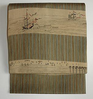 南蛮船染名古屋帯