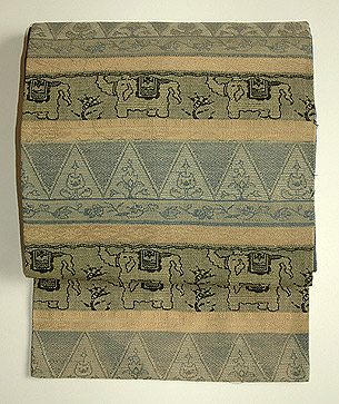 ヨーロッパ織象柄名古屋帯