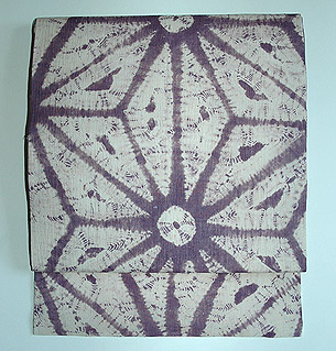 紫根染め名古屋帯