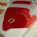 熱帯魚刺繍絽開き名古屋帯 質感・風合